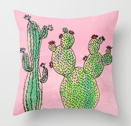 Woman and man cactus Throw Pillow by ranitasart Society6 - Google Chrome 27.12.2017 222525