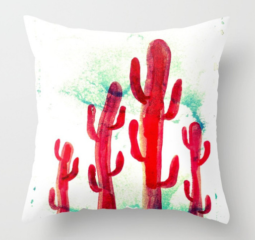 by Society6 - Red desert cactus
