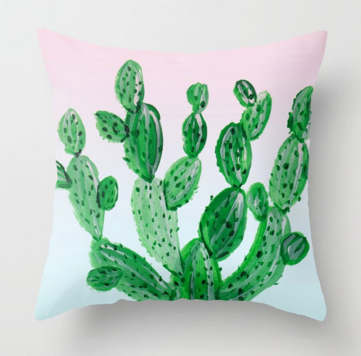 I love this ♥ → cactus tree with ombre background