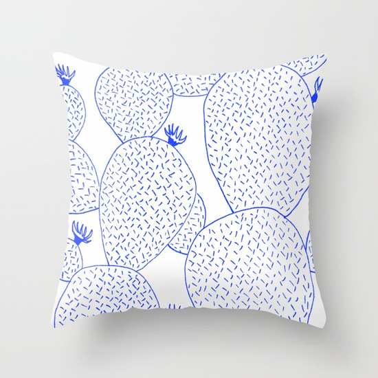 cactus-55-blue-pillows