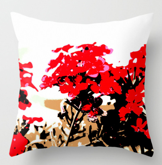 Red Flowers Garden Throw Pillow by ranitasart Society6 - Google Chrome 21.09.2018 090157