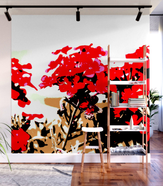 Red Flowers Garden Wall Mural by ranitasart Society6 - Google Chrome 21.09.2018 091051