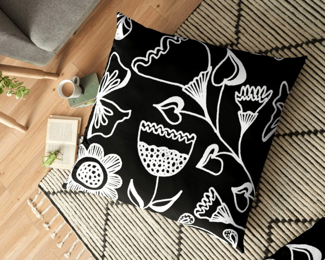 pillow folk design